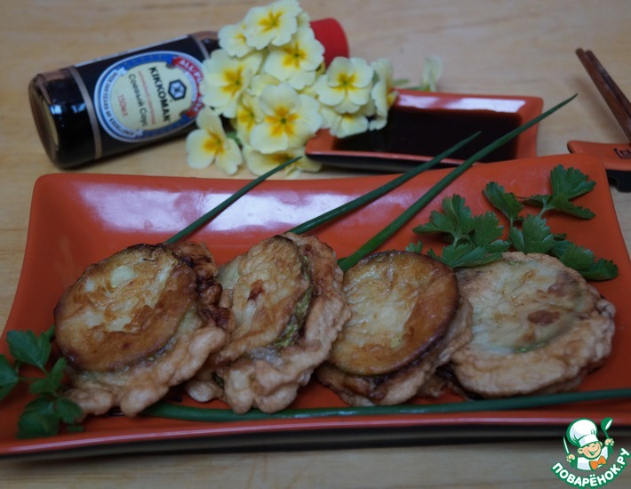 Рецепт: Кабачки с мясом по-китайски