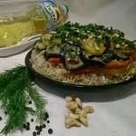 Постный перевертыш с рисом и овощами