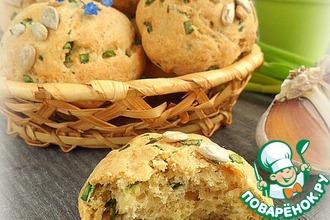 Рецепт: Сырное печенье с зеленым луком