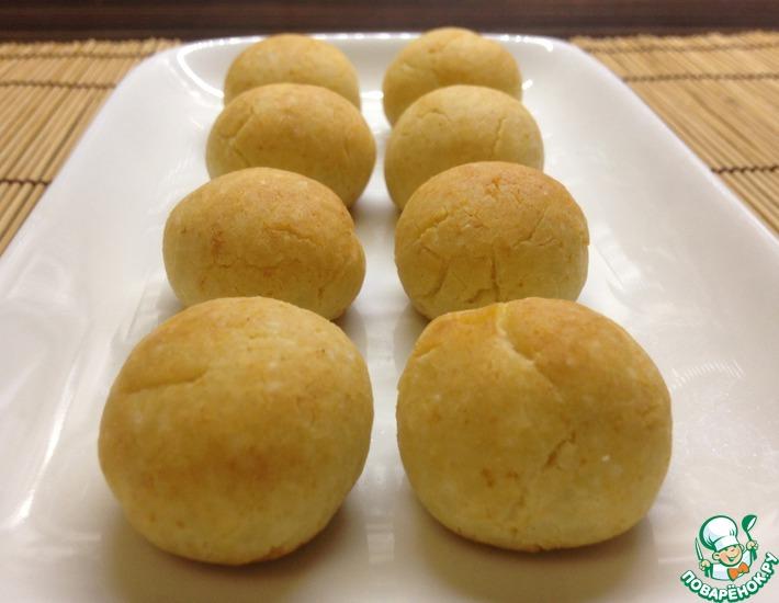 Рецепт: Творожно-рисовое печенье