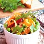 Острый салат из замороженных овощей