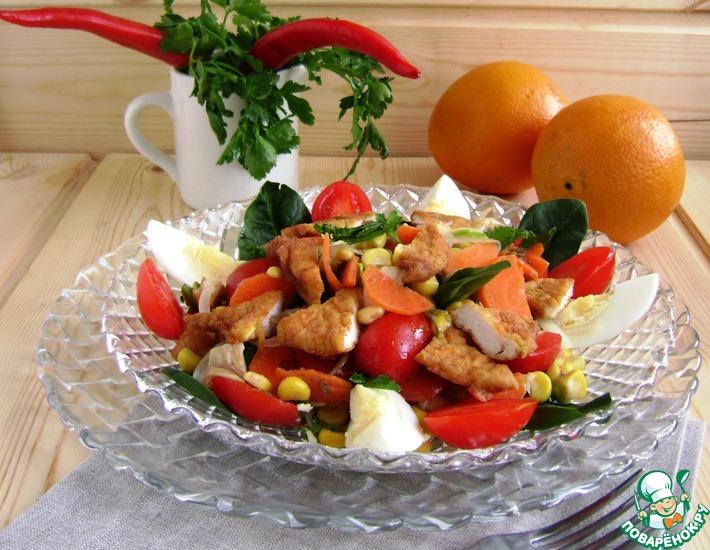 Рецепт: Салат с курицей «Весеннее настроение»