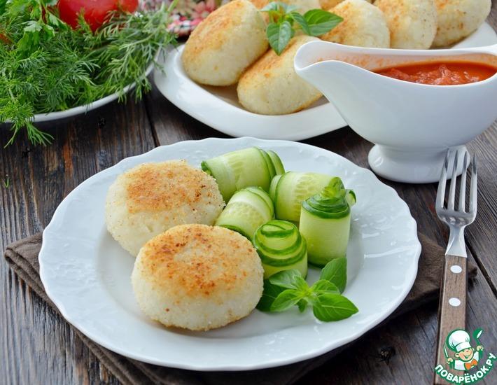 Рецепт: Рисовые зразы с грибами
