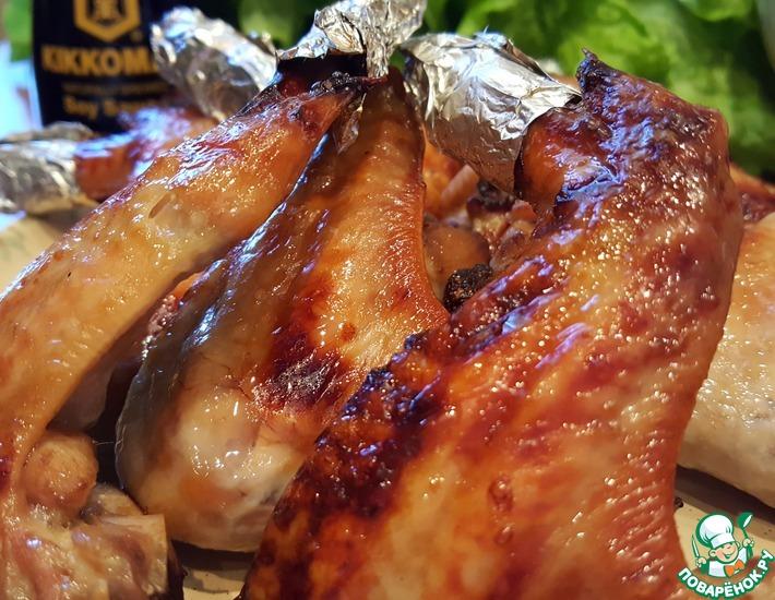 Рецепт: Крылья Счастье луковое