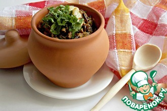 Рецепт: Тушеный дикий рис с кабачковой икрой
