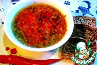 Рецепт: Постный красный борщ с сельдереем