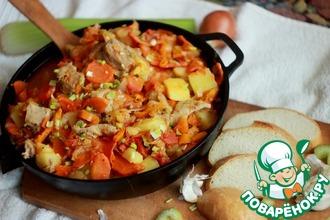 Рецепт: Овощное рагу с говядиной