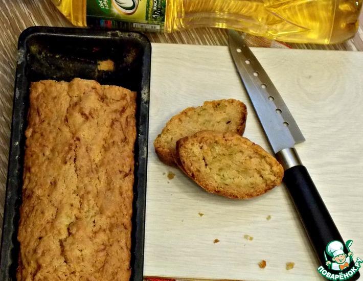 Рецепт: Постный кекс с кабачками
