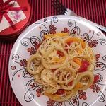 Спагетти с кальмарами