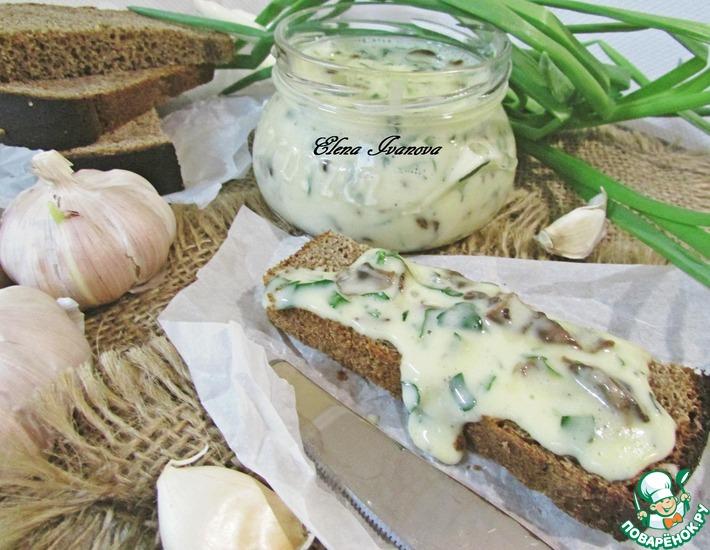 Рецепт: Плавленый сыр с грибами и зеленью
