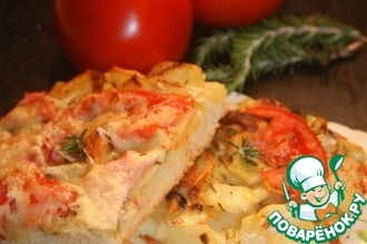 Рецепт: Пицца от двух шефов