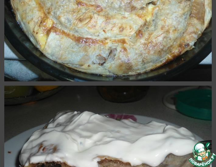 Рецепт: Пирог заливной из лаваша