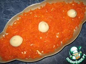 Морковь, майонез.