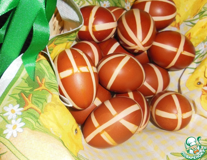 Рецепт: Пасхальные яйца Узорчатые