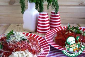 Рецепт: Домашняя паста в томатном соусе