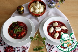 Рецепт: Суп с ньокерл Русский