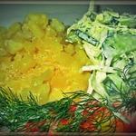 Картофель в молочно-сливочном соусе