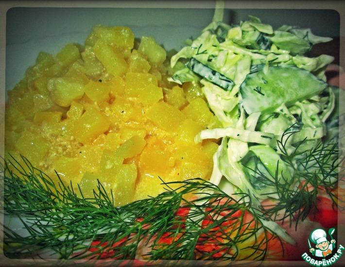 Рецепт: Картофель в молочно-сливочном соусе