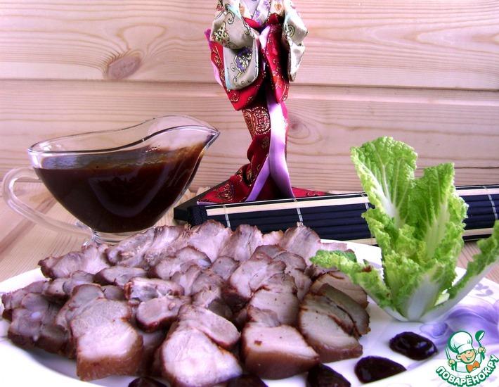 Рецепт: Ароматная грудинка с китайским острым соусом