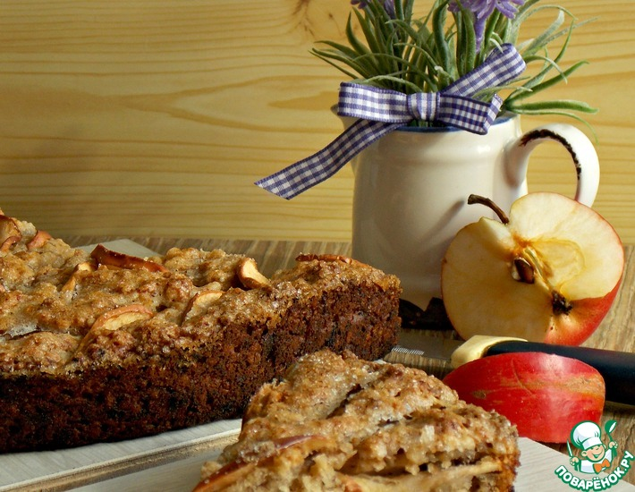 Рецепт: Постный бананово-овсяный пирог