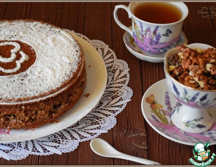 Рецепт: Сметанно-ореховый пирог