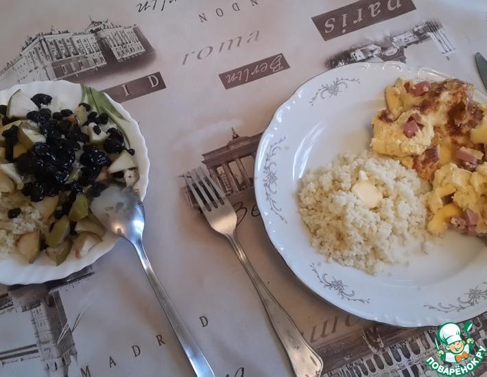 Рецепт: Сладкий кус-кус на завтрак