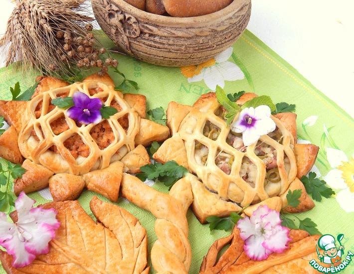 Рецепт: Пирог Дуэт-подсолнухи