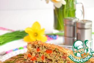 Рецепт: Быстрый закусочный пирог с гречкой