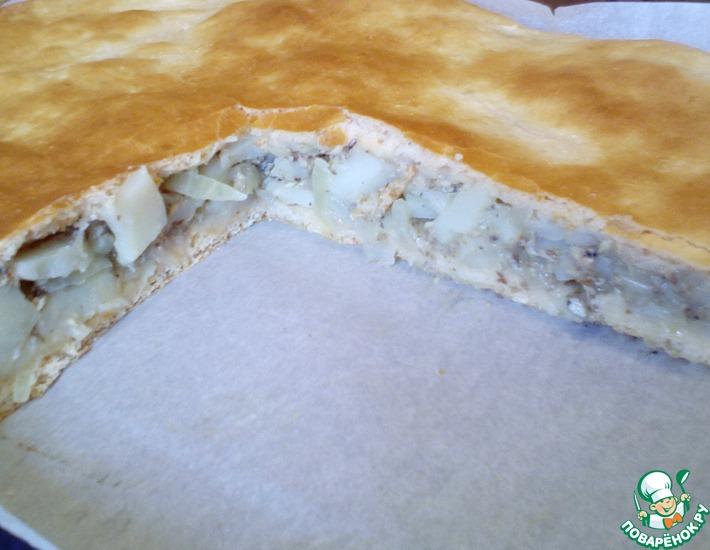 Рецепт: Пирог с рыбой и картофелем