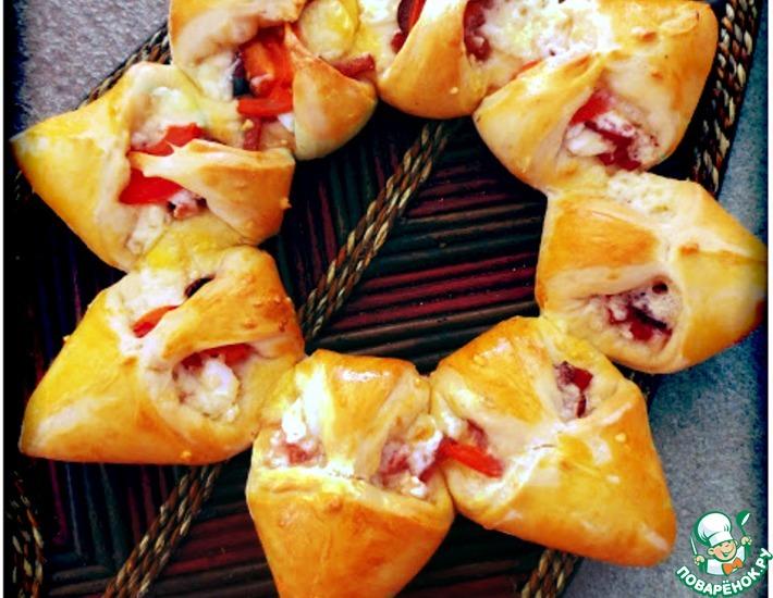 Рецепт: Пицца Солнце