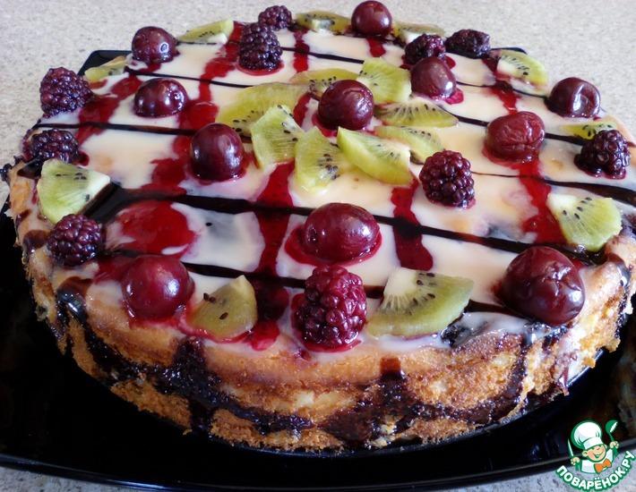Рецепт: Творожная запеканка фруктово-ягодная