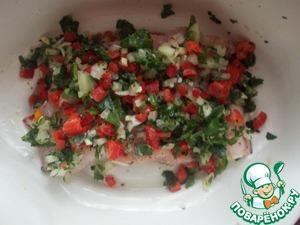 Рыба под сливочным соусом с овощами Рыба
