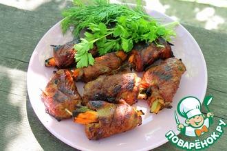 Рецепт: Шашлык из говядины с овощами