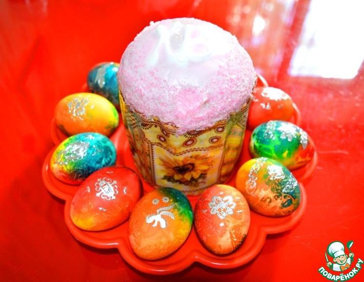 Рецепт: Пасхальные яйца Радужные
