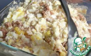 Салат из тунца Закусочный Яйцо куриное