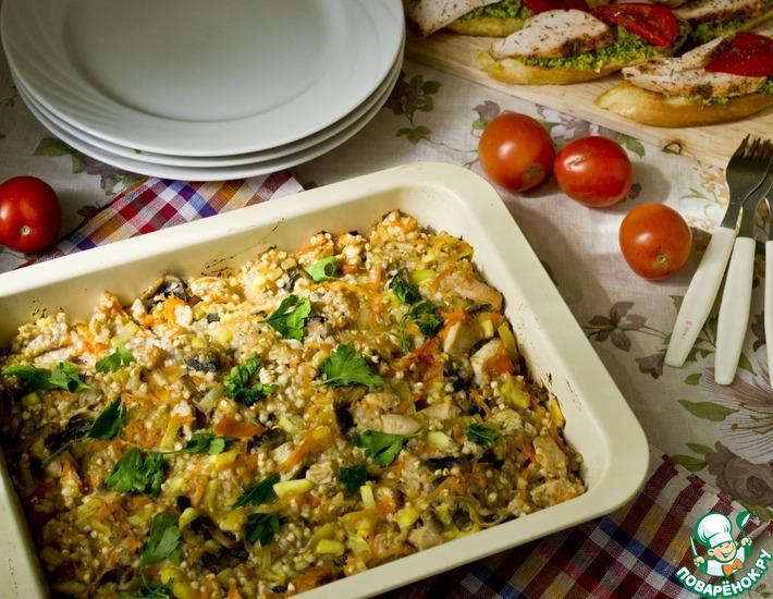 Рецепт: Гречка с овощами и мясом