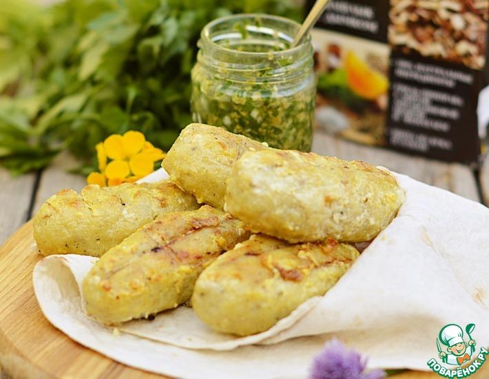 Рецепт: Рыбные колбаски на мангале
