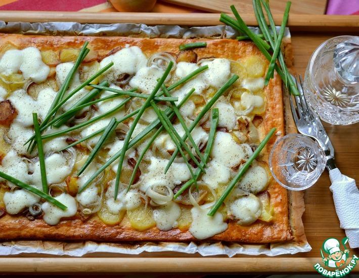 Рецепт: Пирог с картофелем и брынзой