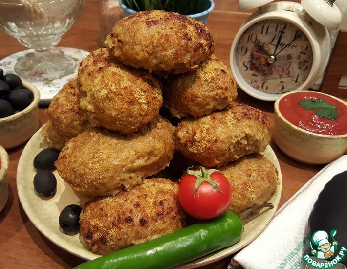 Рецепт: Котлеты индюшачьи с коричневым рисом