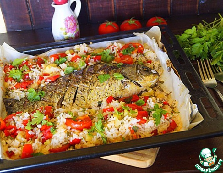Рецепт рыбы с рисом и овощами — pic 3