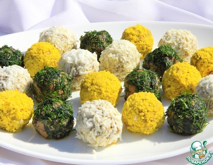 Рецепт: Закусочные шарики из печеночного паштета