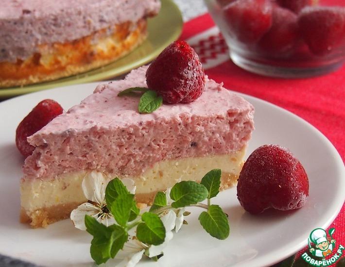 Рецепт: Чизкейк Зимняя ягода