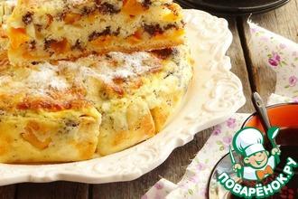 Рецепт: Манный пирог с персиками и маком