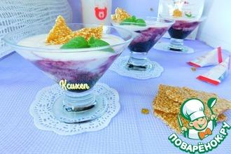 Рецепт: Десерт из ряженки с козинаками