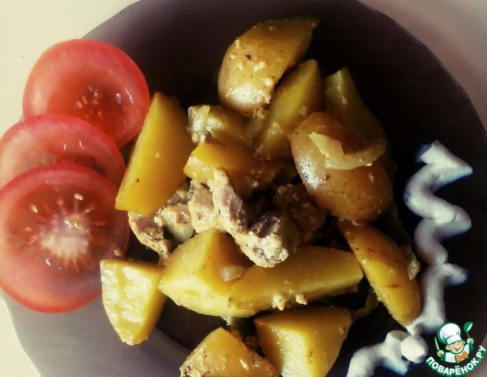 Рецепт: Картофель с мясом в пакете