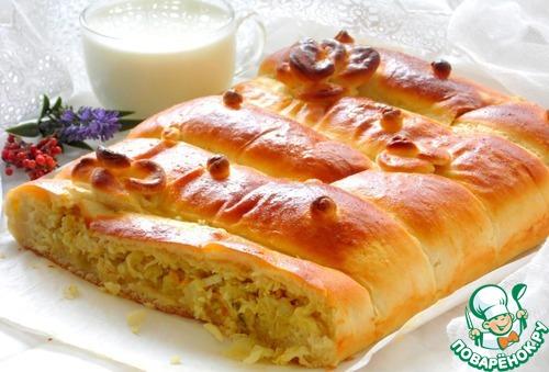 Дрожжевой пирог с капустой – кулинарный рецепт
