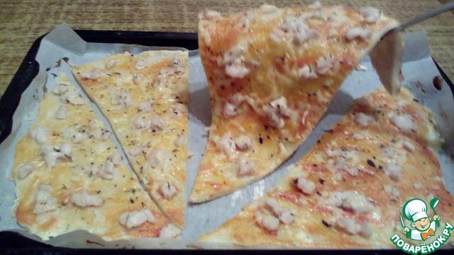 рецепт пиццы с творогом