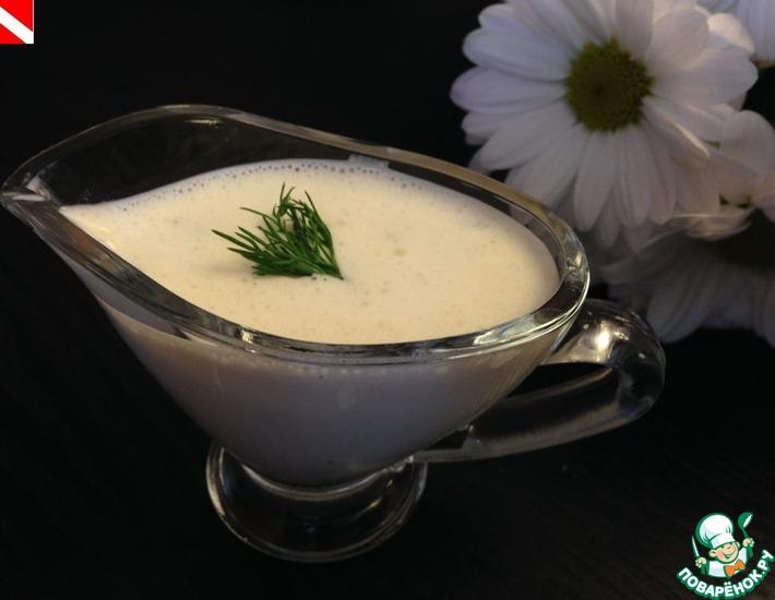 Рецепт: Творожный соус для салатов