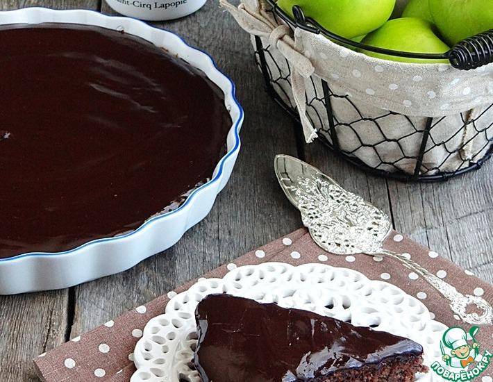 Творожно-яблочный пирог с маково-ореховой основой – кулинарный рецепт