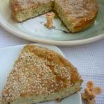Быстрый сырно-творожный пирог